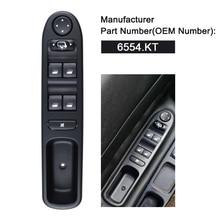 Driver Side Front Window Control Switch 6554.KT For Peugeot 307 307CC 307SW 2003-2008 цена в Москве и Питере