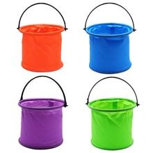 Folding Bucket Multifunctional Fine Art Painting Plastic Washing Bucket Travel Camping Tool Portable Travel Washing Bag
