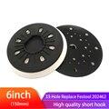 Мягкая обратная шлифовальная накладка, 6 дюймов, 150 мм, 33 отверстия, без пыли, шлифовальная Накладка для 6-дюймовых шлифовальных дисков на лип...