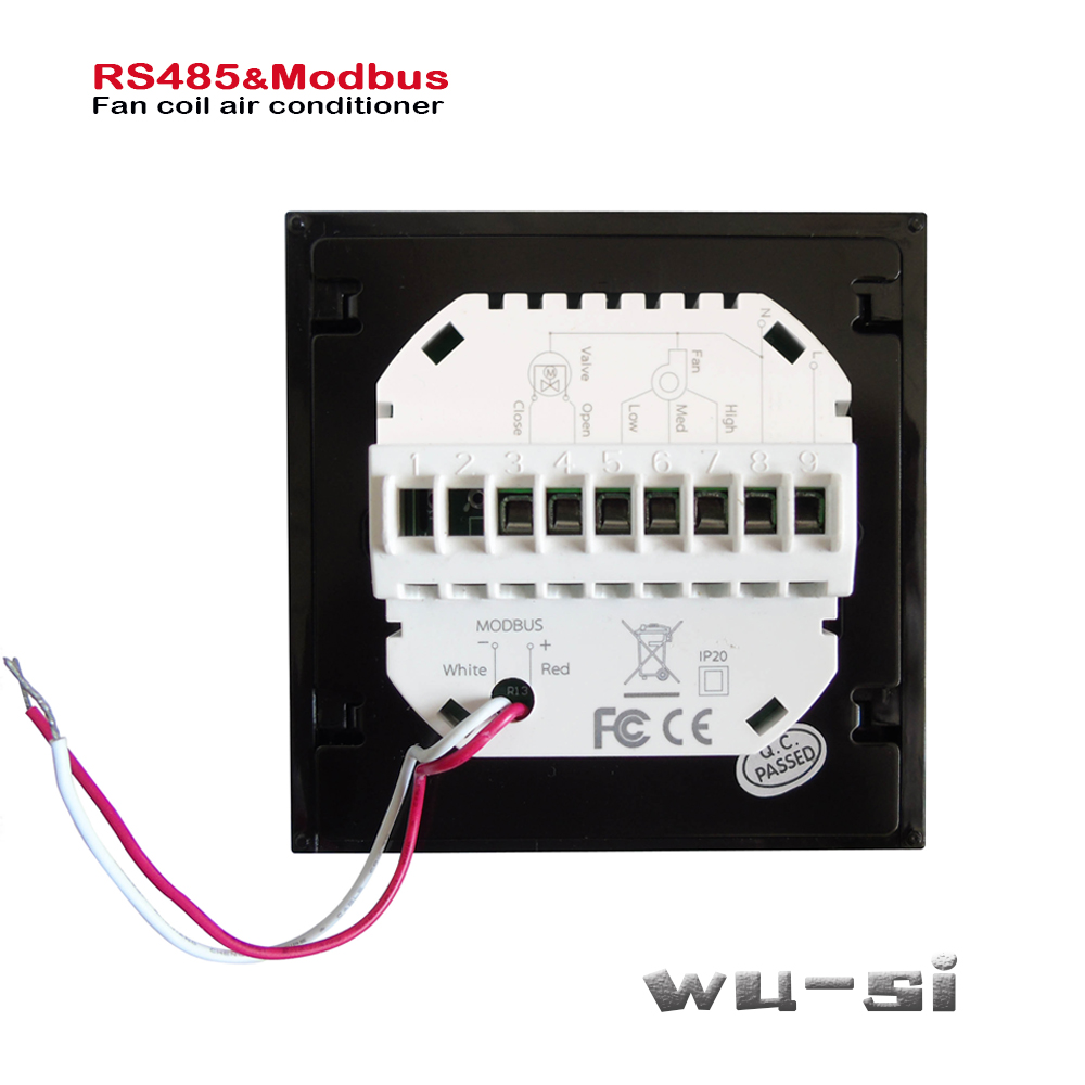 Modbus& RS485 RTU Communication 2Pipe Thermostat,heat Or Cool 95-240VAC,Optional 24VAC
