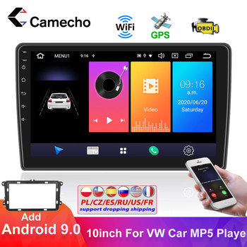 Camecho 2 Din Android Car GPS Multimedia Player WIFI Car Stereo For VW Volkswagen Skoda Golf Polo Passat b7 b6 Tiguan Autoradio image