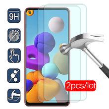 2 pçs protetor de tela de vidro protetor de proteção para samsung galaxy a21s em samsun sumsung a21s a 21s 2020 a217f temperado película de segurança de vidro