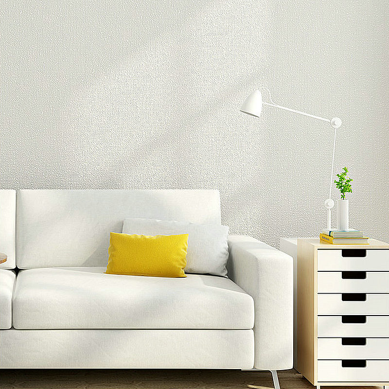 Non-woven Wallpaper Modern Living Room Bedroom TV Backdrop Wall Decoration Material Pure Plain Color Faux Diatom Mud Wallpaper