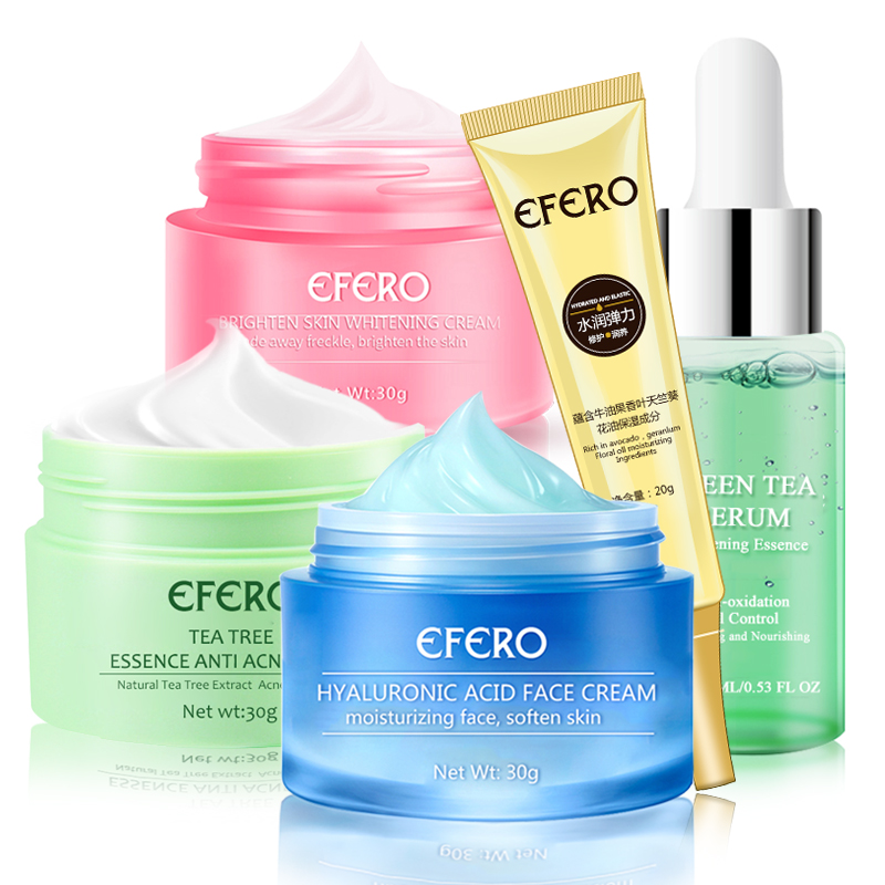 Hyaluronic Acid/Green Tea/Snail Face Cream Fading Fine Line Eye Cream Whitening Moisturizing Remove Freckle Face Cream Skin Care