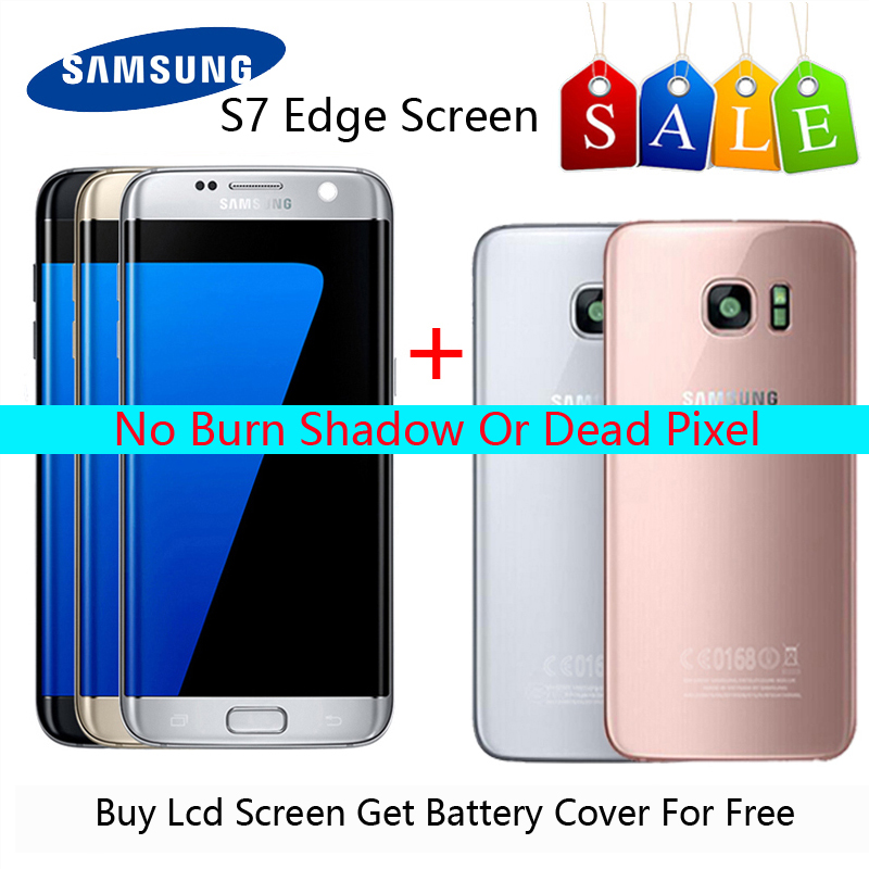 H9be6e9085ecf43c7969e1868bc8a54d5K Original AMOLED 5.5 '' LCD For Samsung S7 Edge LCD G935F G9350 S7 Edge LCD Display Touch Screen With Gift S7 Back Cover