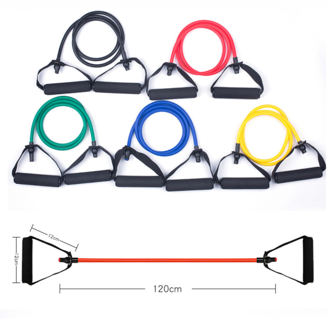 120cm Fitness Resistance Bands Gym Equipment Elastic Bands Pull Rope Fitness Eqquipment 4