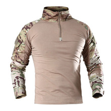 US Camouflage Army T-Shirt Men RU Soldiers Combat Tactical T Shirt Military Force Multicam Camo Long Sleeve Hiking T Shirts 4XL