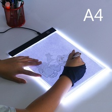 A4 Ultra-thin Light Pad LED Light Box Graphic Tablet Led Tablet Drawing Tracer Table Diamond Painting Tracing Pad Copy Board 1pcs a4 ultra thin portable usb power led light pad with line tracing copy board light box stencil for drawing painting