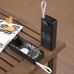 Image 5 - انفصال QC3.0 PD شاشة الكريستال السائل لتقوم بها بنفسك 16x18650 علبة البطارية قوة البنك شل 10 واط صندوق شحن لاسلكي بدون باور بنك لشحن البطاريات P