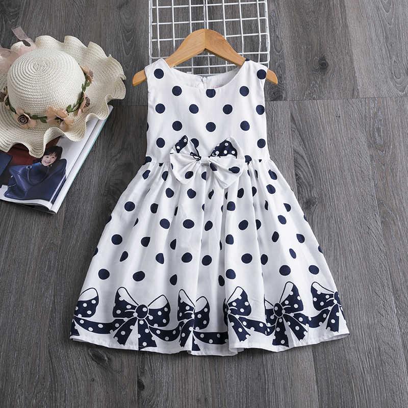 2020 אלגנטי ילדים פרח בנות קיץ שמלות ילדים ילדים פרחוני ללא שרוולים בגדי בנות נסיכת טול שמלה