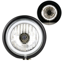 1 Pcs Universal H4 12V 35W Motorcycle Headlight Vintage Round Front Lamps Motorbike Headlights