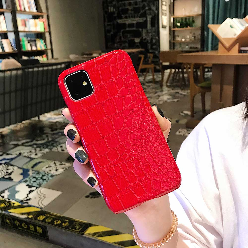 Fashion Cool Crocodile Snake Skin Cover Case With Hybrid Rubber Cape For iPhone Xs Max 14
