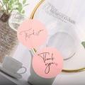 120 шт., спасибо, наклейки, Розовые наклейки для компании, подарок на день рождения, сувенирные этикетки, почтовые принадлежности, фестиваль