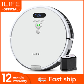 ILIFE V8s/V8 Plus Robot Vacuum Cleaner Vacuum Wet Mop Navigation Planned Cleaning large Dustbin Water Tank Schedule disinfection free to russia robot vacuum cleaner multifunctional vacuum sweep mop flavor lcd screen virtual blocker schedule selfcharge