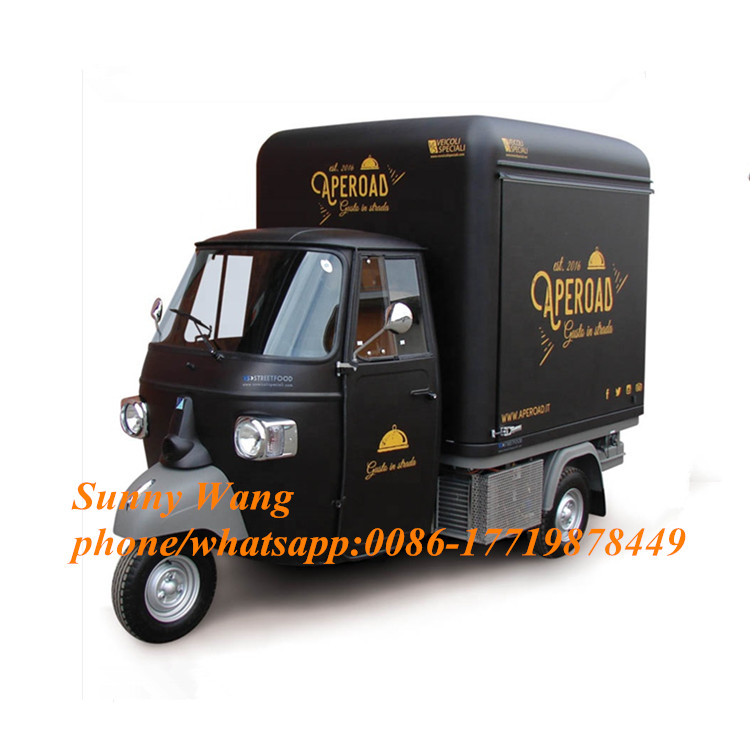 Concession High Quality BBQ Fast Food Cart Hamburgers Food Tricycle Sales