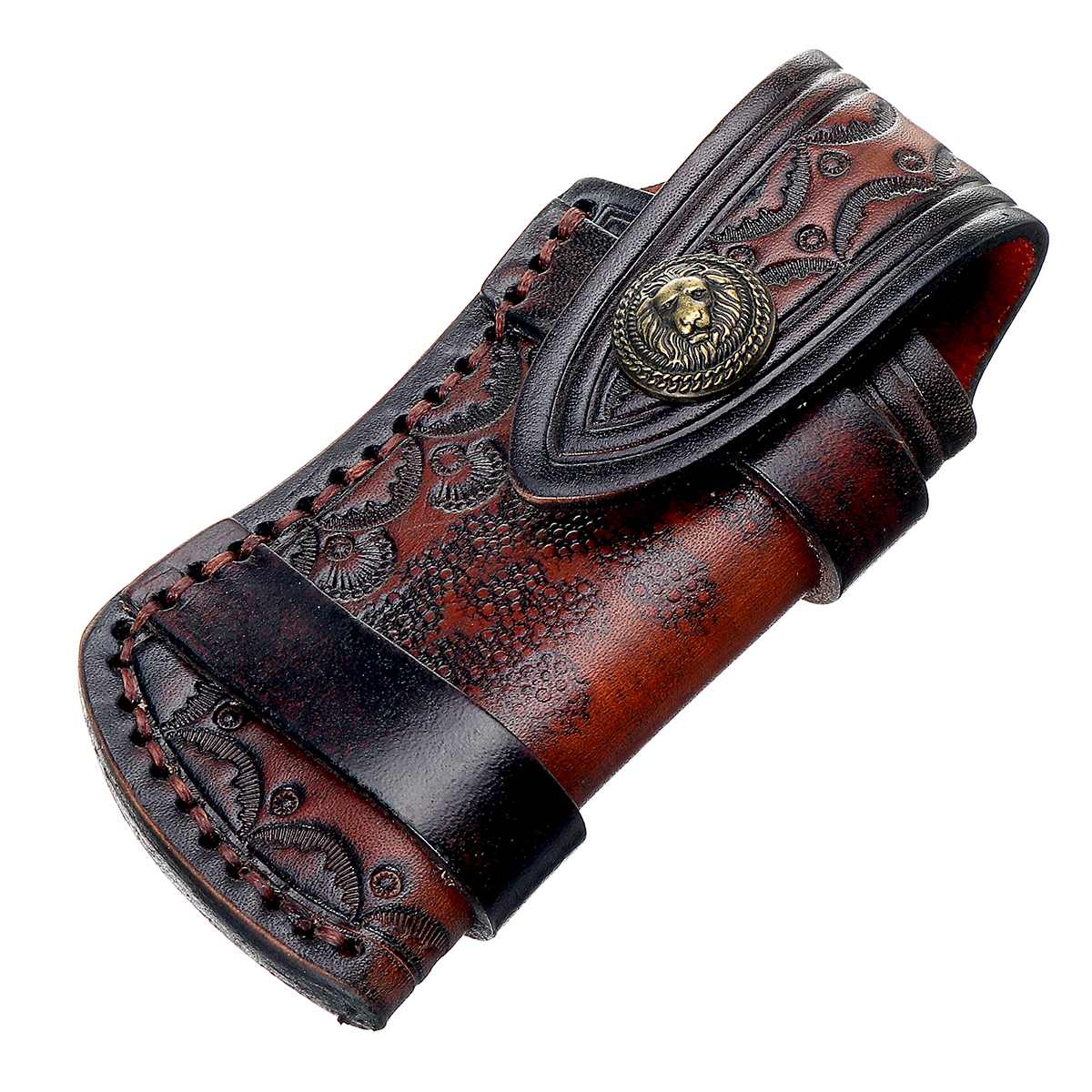 Handmade Knife Leather Sheath With Waist Belt Buckle Pocket Cosplay Costume Decoration Kit For Foldable Cutter Tools Accessories