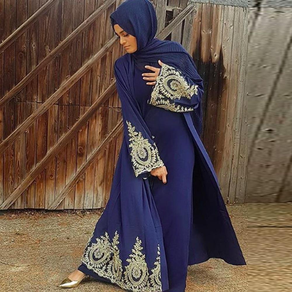 Kaftan Dubai Abaya Kimono Cardigan Muslim Hijab Dress Turkish Saudi Arabia African Dresses For Women Caftan