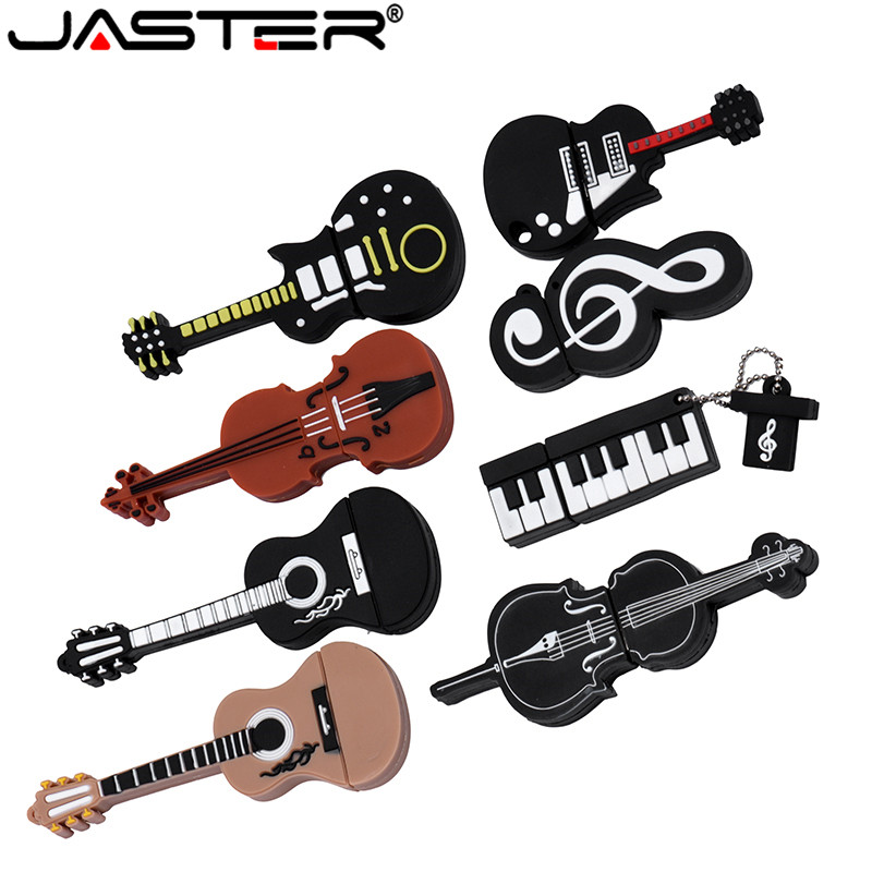 JASTER 10 Styles Musical Instruments Model Pendrive 4GB 16GB 32GB 64GB USB Flash Drive Violin/piano/guitar