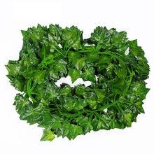 40 # yapay bitkiler yeşil yapay asılı sarmaşık yaprağı Garland bitkiler asma yaprakları ev banyo dekorasyon bahçe partisi dekoru