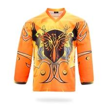 Clothing Hockey-Jersey Firebirds-Design Customization Tops Club Name-Number Printing