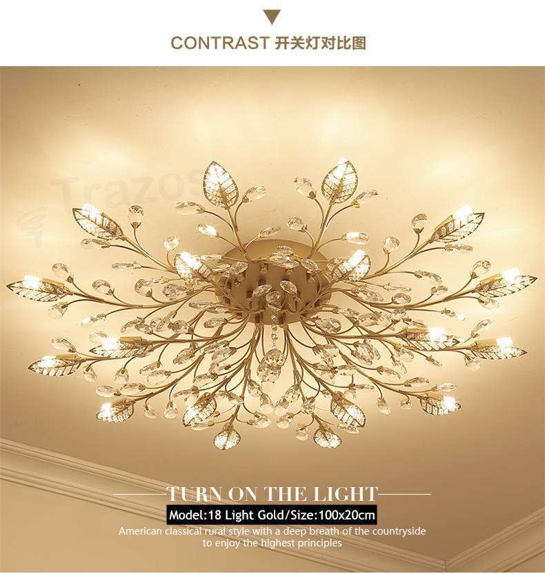 H9be7ec8025d045979b1da8a294d77089S TRAZOS New item fancy ceiling light LED Crystal ceiling lamp modern lamps for living room lights,AC110-240V DIY Crystal lighting