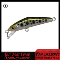 2019 new fishing lure d contact minnow hard bait 35mm 2.5g sinking for Trout inertial slide lake pond accessories peche|Fishing Lures| |  -