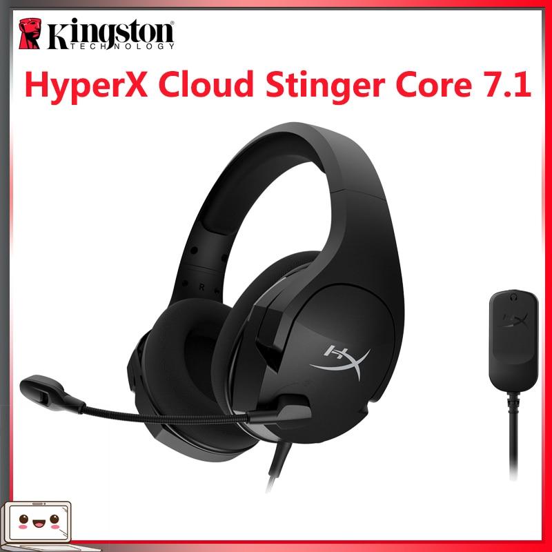 Casque de jeu Original Kingston HyperX Cloud Stinger Core 7.1 casque filaire avec carte son 7.1 son Surround pour PC