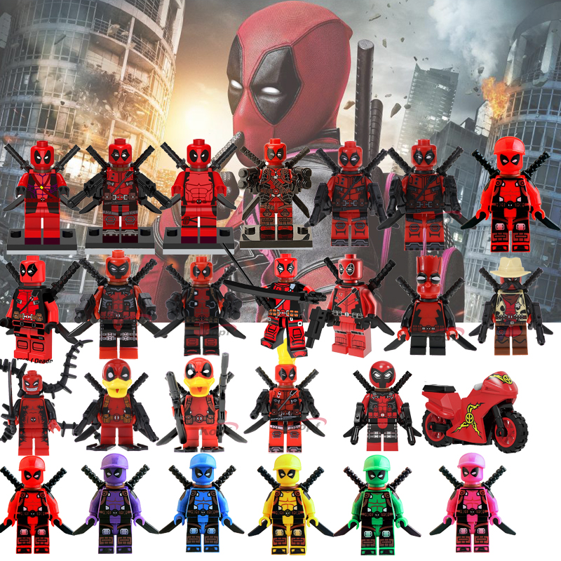 Bricks Figures Toys  Deadpool Series Model Figures Marvel Hero Gwen-Pool Building Blocks Sets Bricks Kids Educational Toys