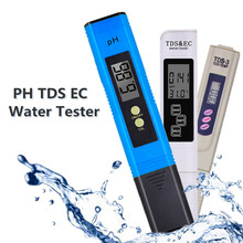 Digital PH EC TDS Tester Temperature PH Meter Pen Water Purity PPM Filter Hydroponic for Aquarium Pool Water Monitor 48%off