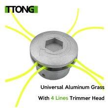 Универсальная алюминиевая Головка триммера для травы с 4 линиями