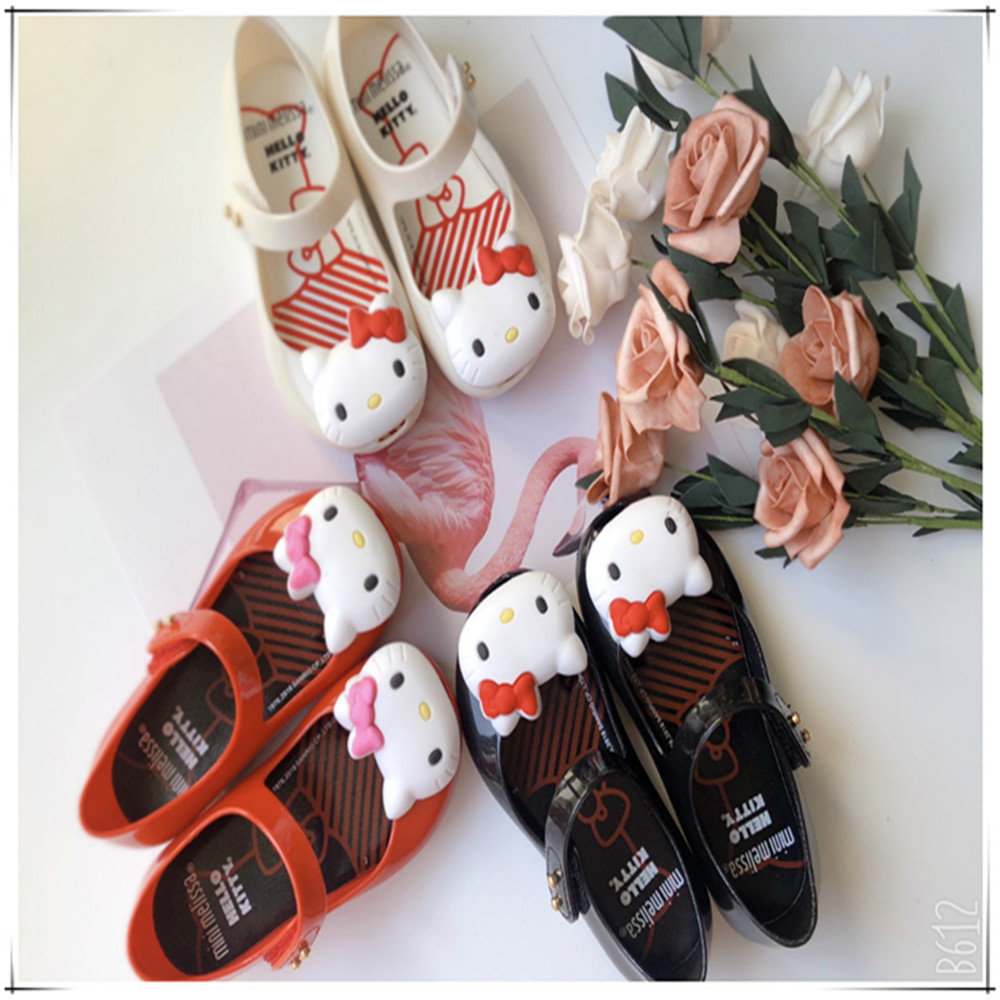 Mini Melissa Hello Kitty Princess Jelly Shoes Girls Fashion Cartoon Cat Candy Sandals Cute Baby Toddler Quality Shoes SH19103