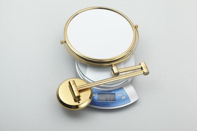 Двухстороннее складное Латунное зеркало для макияжа в ванную