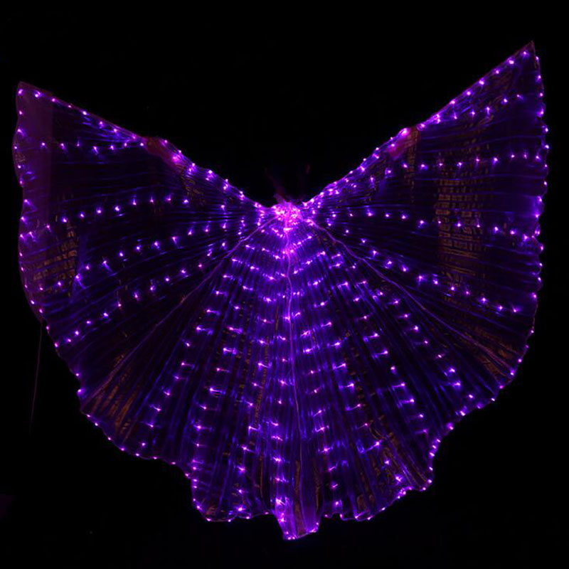Hot-Selling Bellydancing LED Isis Wings Nice Oriental Dance Accessory LED Wings Sexy Stage Show Props Wings 5 Colors
