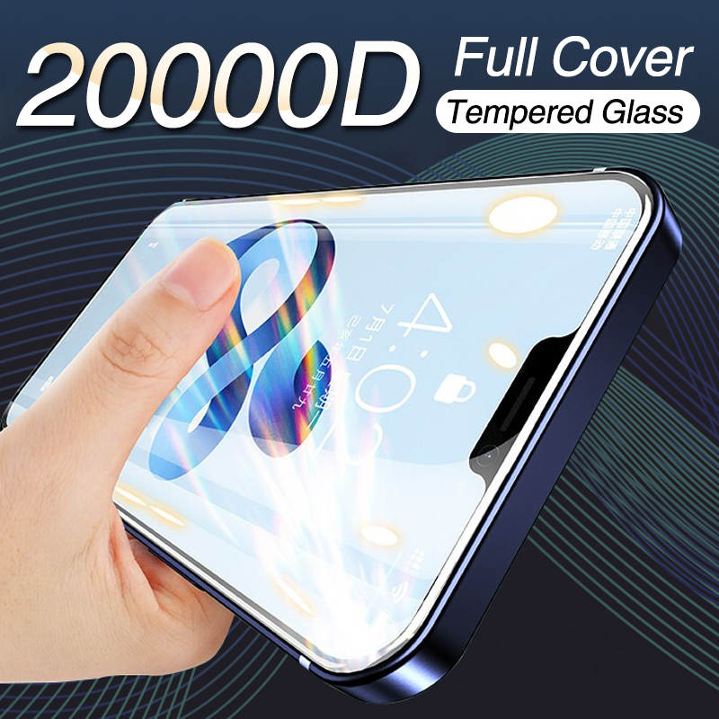 20000D Full Cover Glass On For iPhone 12 Pro 11 Pro Max Screen Protector For iPhone XS Max XR X 12 mini Screen Protector Glass Phone Screen Protectors  - AliExpress