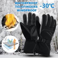 WATERFLY Winter Waterproof Ski Gloves Snowmobile Motorcycle Riding Snow Gloves For Men Warm Windproof Glove