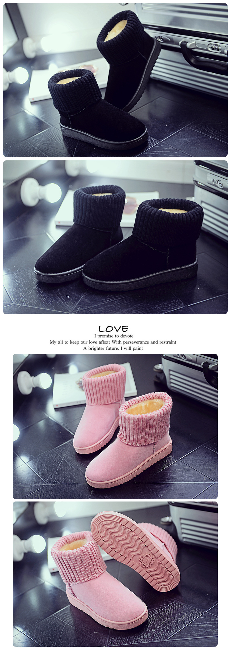 Women's new snow boots winter fashion wild classic women's shoes simple warm non-slip waterproof wool shoes ladies ankle boots 67