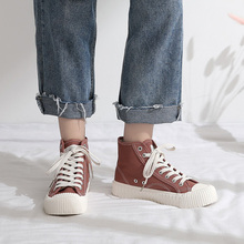 Color High Canvas Shoe Woman Shoes Ins Street Time Biscuits