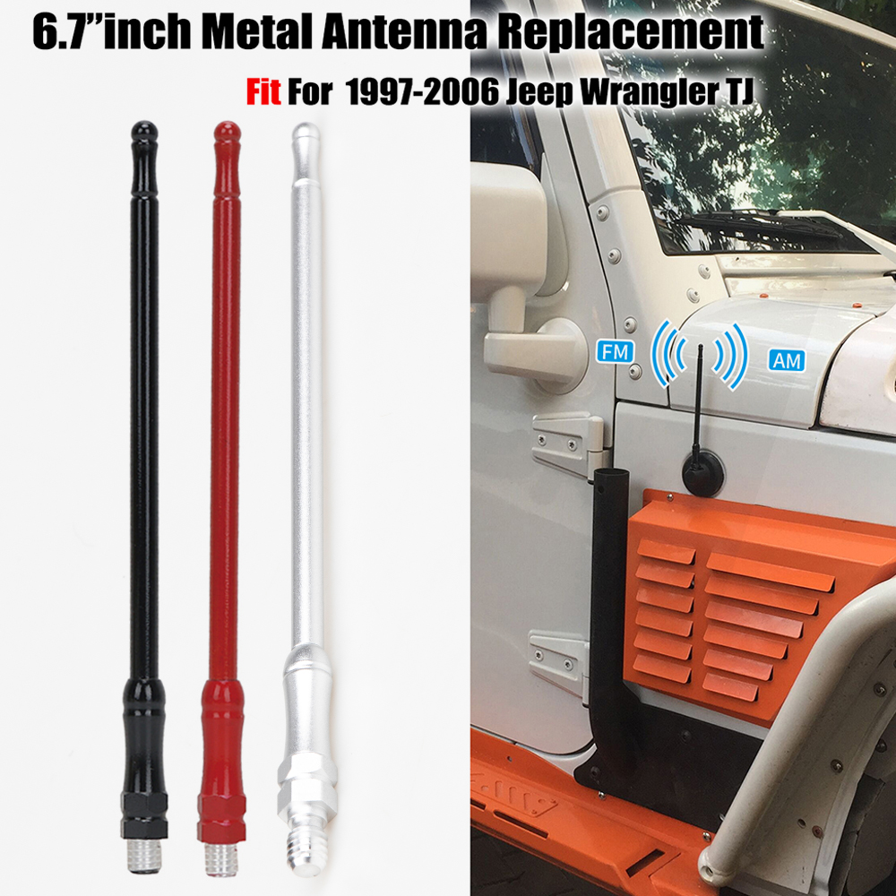 7inch 17CM 2007-2018 Red Antenna fit for Jeep Wrangler JK 2018-2019 JL