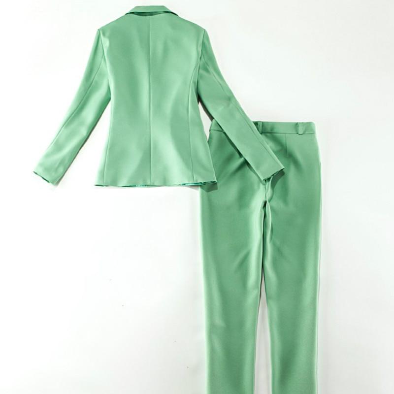 Women's professional office Blazer pants high quality 2020 new autumn female slim long-sleeved ladies pants suit two-piece suit