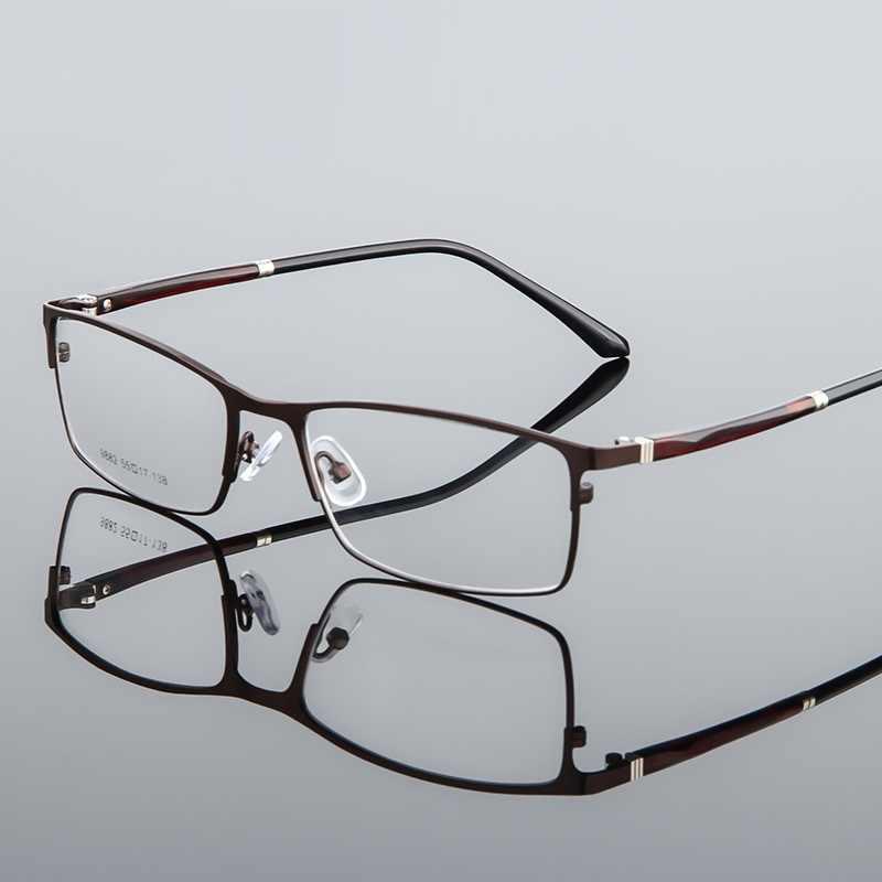 Óculos de prescrição swokence para miopia sph 0 a-12 masculino feminino anti azul ray liga meia moldura para míope wp027