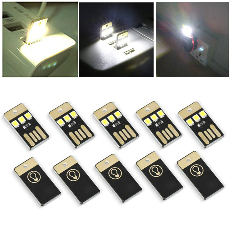 Mini USB Power LED Light Night Camping Eqpment For Power Bank Computer Ultra Low Power 2835 Chips Pocket Card Lamp