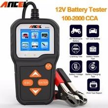 ANCEL – testeur de batterie de voiture de moto BA301 6V 12V, circuit de démarrage rapide, Test de tension de charge de batterie, outils de Test