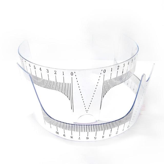 Plastic Eyebrow Tattoo Stencils Microblading Reusable Makeup Brow Measure Eyebrow Guide Ruler Permanent Tools 5