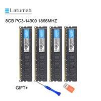 Latumab 8 ГБ 16 ГБ DDR3 1866 МГц PC3 14900 настольная Память DIMM Память RAM 240 шпильки 1,5 в Настольный ПК модуль памяти ram
