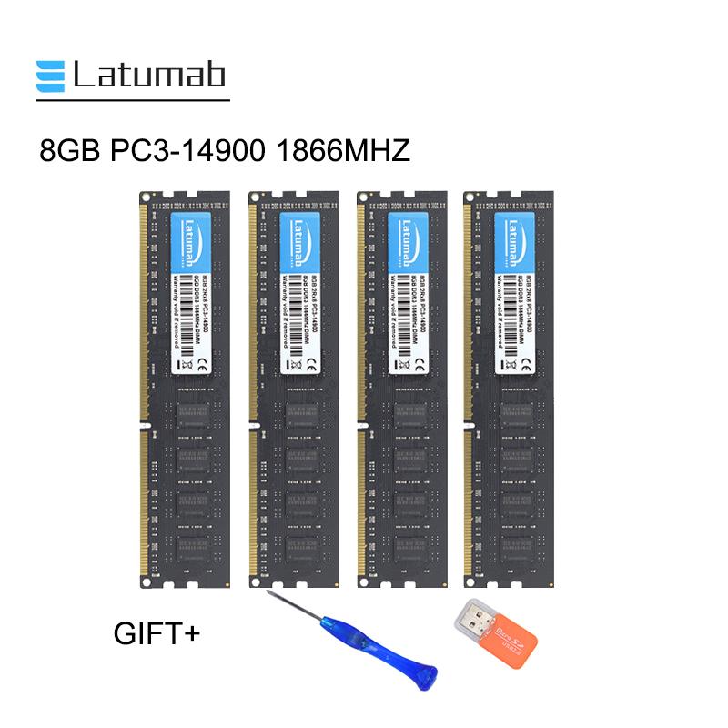 Latumab 8GB 16GB DDR3 1866MHZ PC3 14900 Desktop Memory Dimm Memory Ram 240 Pins 1.5V Desktop PC Memory RAM Memory Module