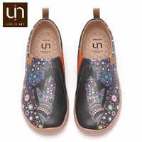 UIN Beten für Güte Design Kunst Gemalt Mode Faulenzer Männer Mikrofaser Leder Schuhe Breite Komfort Zu Fuß Turnschuhe Leichte