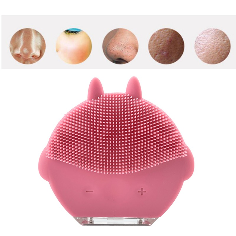 Ultrasonic Electric Facial Cleansing Face Washing Brush Vibration Skin Blackhead Remover Pore Cleaner Massage Beauty Facial Care