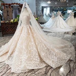 Image 4 - Bgw HT5620 suknie slubne 高級セクシーなストラップレスのウェディングドレスレースシャンパンアップリケ夜会服のウェディングドレス結婚式のベール