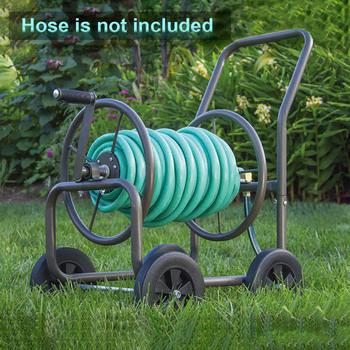 Stojąca rura wąż uchwyt rolki wózek ogrodowy fajka wodna wąż przewoźnik łatwy montaż do domu podlewanie przechowywanie rur wózek ogrodowy tanie i dobre opinie CN (pochodzenie) Car Washing Pipe Storage Holder