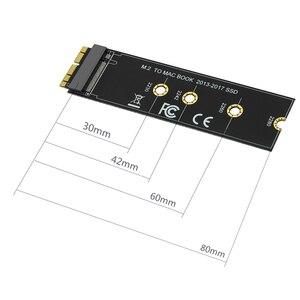 Image 2 - م مفتاح M.2 ل NGFF PCIe SSD بطاقة محول لابل ماك بوك اير 2013 ~ 2017 A1465 A1466 برو A1398 A1502 A1419 2230 2280 SSD